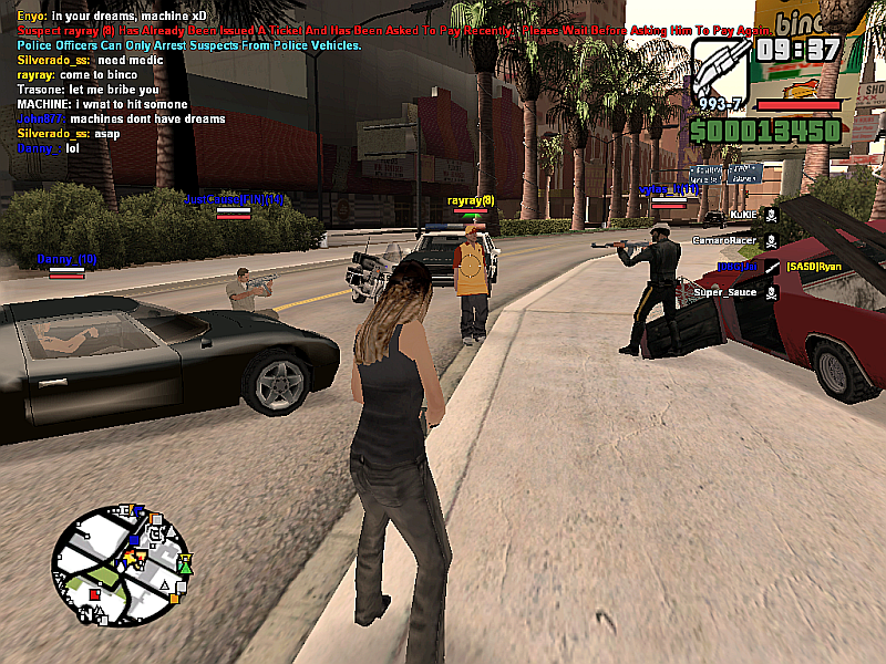 SA-MP San Andreas Multiplayer mod for Grand Theft Auto (GTA SA)